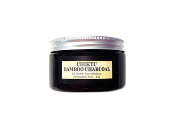 Charcoal Face Mask, Acne, Oil Control, Blemished Skin, Detox, Face Mask for Blemished Skin, LA CREME' Face Masque Bamboo Activated Charcoal