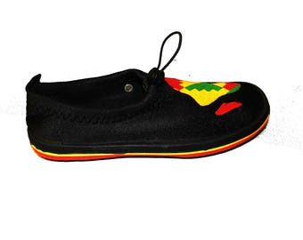 Africa Map Kente Shoe