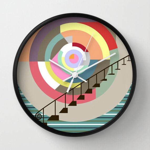 Colourful Wall Clock, Unique Wall Clock, Wall Clock Home Decor,  Decorative Clock Stairway to Heaven