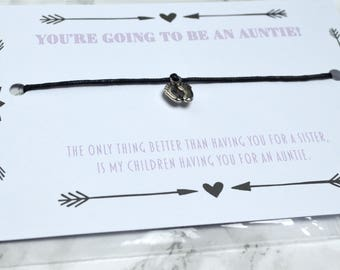 Pregnancy Announcement Bracelet You're going to be a Nanny / Auntie!