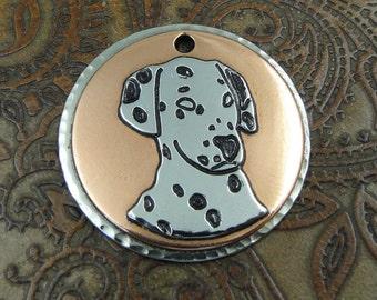 Custom Dalmatian Dog ID Tag-Personalized Pet ID Tag-Dog Collar ID Tag-Handmade Dalmatian Dog Tag