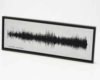Straight, No Chaser -  Thelonius Monk Sound Wave Art Print