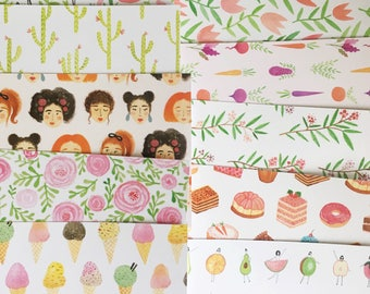 10 Pack of Patterned Postcards