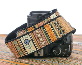 Tribal Stripe dSLR Camera Strap Southwestern Canon Camera Strap, Nikon Camera Strap, SLR, Mens camera strap, Photography, 141
