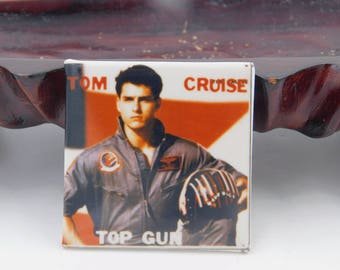 Vintage 1980's Pin Pinback Button From The Movie Top Gun Starring Tom Cruise Dr58