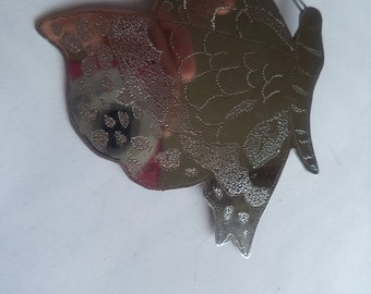 Vintage Unsigned Fabulous Silvertone Artisan Butterfly Brooch/Pin  Lightweight