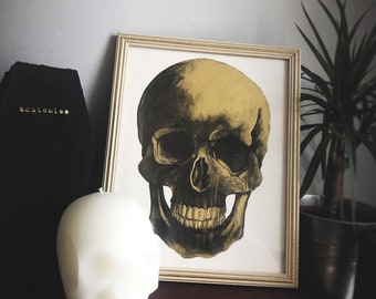 Painting of Skull - Black and Gold