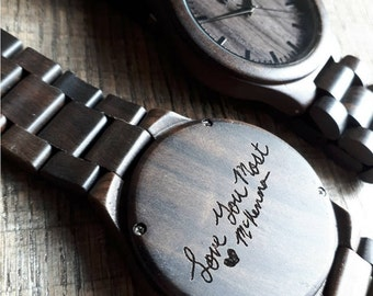 Fathers day gift , Wood Watch, father of the groom,  engraved watch, Groomsmen gift, wooden watch, Wood Watch Men, boyfriend gift, TOP300