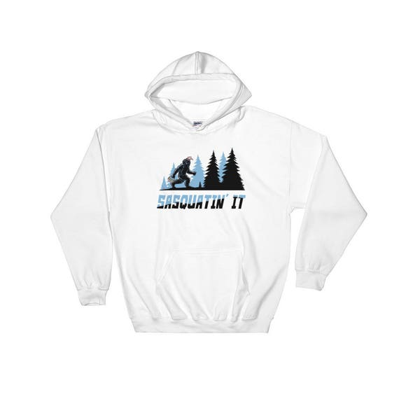 Bigfoot, Surfing, Sasquatch, Surfer, Hooded Sweatshirt, Graphic Hoodie, Beach, Beach Lovers Gift, Shortboard