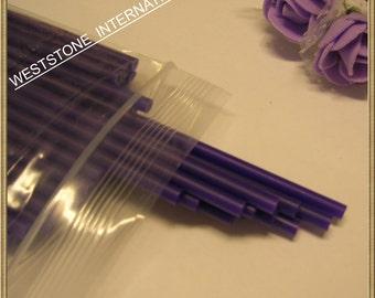 """50pcs 6"""" x 5/32"""" Plastic  Lollipop Sticks for Cake Pops - Purple"""