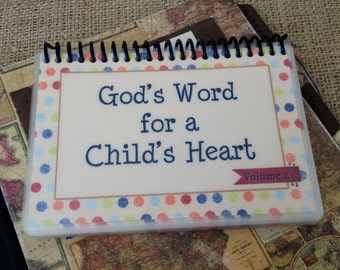 God's Word for a Child's Heart - Volume 2, Spiral-Bound, Laminated Bible verse cards