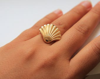 Gold Shell Ring