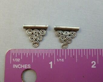 2 TRIANGLE SILVER 925 BALI Beads 15mm