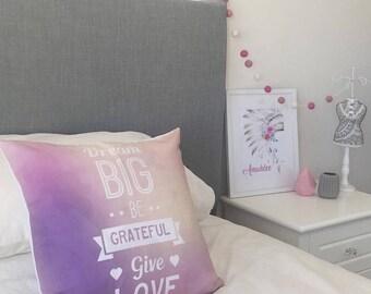 Dream Big - Decorative Pillow Case, Throw Cushion Cover, Pillow Cover Cover, Decor, Throw Pillow Cover, Cushion Cover