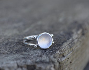Rose Quartz Double Band Ring, Rose Quartz Ring, Rose Quartz, Double Band Ring, Sterling Silver, Quartz Ring, Pink Gemstone Ring, Silver