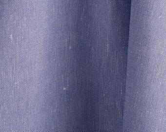 Linen-cotton fabrics/ flat 180 cm fabrics/ Bluish violet linen-cotton fabrics by the half-meters