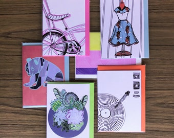 Assorted Six Greeting Cards deal for those who love to give gifts and mark special occasions with a greeting card Pack No 33