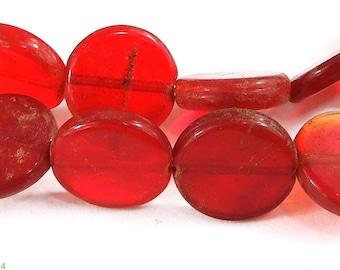 Bohemian Trade Beads Red Circles African 84450