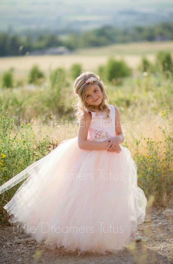 New the juliet dress in pink blush with flower sash flower like this item mightylinksfo Choice Image