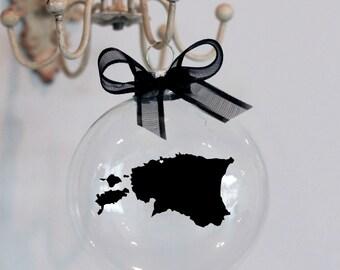 Estonia Christmas Ornament, Custom, Adoption, Travel