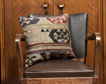 Turkish kilim pillow, PAYPAL, Decorative pillow, Vintage home decor, Cushion cover, Area pillow, Boho pillow, pillow, 16x16 inches, 40x40 cm