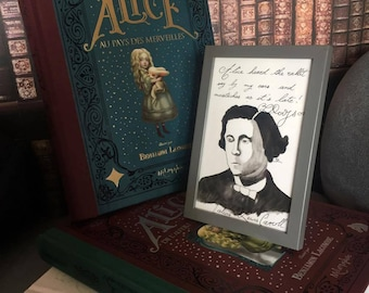 Print Lewis Carroll - Alice-quote