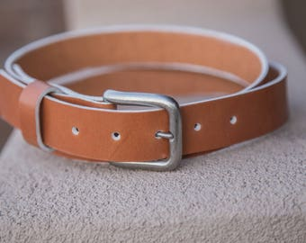 The Boat Belt | Handmade in the USA | Brown Leather Belt |
