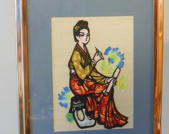 Japanese Paper Cutting Picture