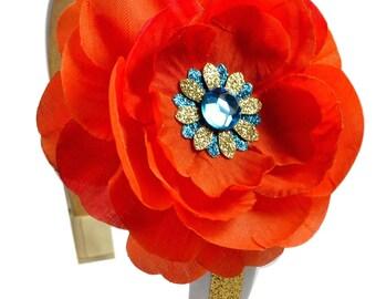 Island Princess Sparkling Glitter Flower Headband