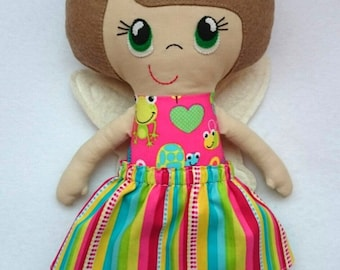 Dark blonde Spring Fairy Poppet doll - handmade ragdoll, cloth doll, fairy, Poppet, toy, CE marked, girl, boy, children, gift, plush