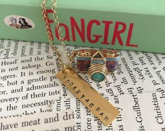Bookstagram Necklace, Bookworm Necklace, Book Nerd Necklace, Pendant Necklace, Book Necklace, Bookish Necklace, Literary Jewelry, Bookworm