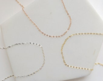 Thin Chain Necklace. Layering Necklace.