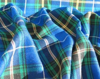 Blue Nova Scotia Tartan Fabric,  Blue Plaid Fabric, Nova Scotia Tartan By Yard,  Blue Nova Scotia Tartan Suiting Fabric, Taylors Tartans