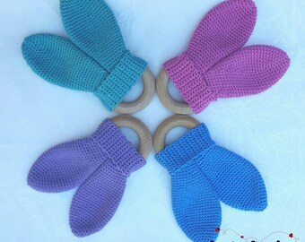 Crochet Bunny Ear Teether