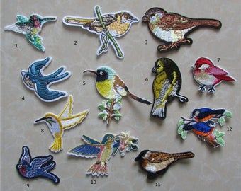 1 BIRD Applique Iron On Animal Patch