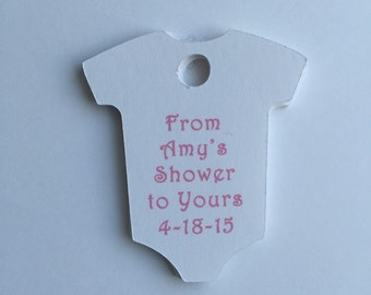 Baby Shower Tags - Set of 20 - Personalized Tags