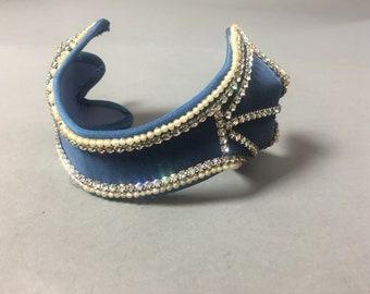 Vintage 50s headband / vintage fascinator / vintage hat  / vintage headband / rhinestone pearl hat /