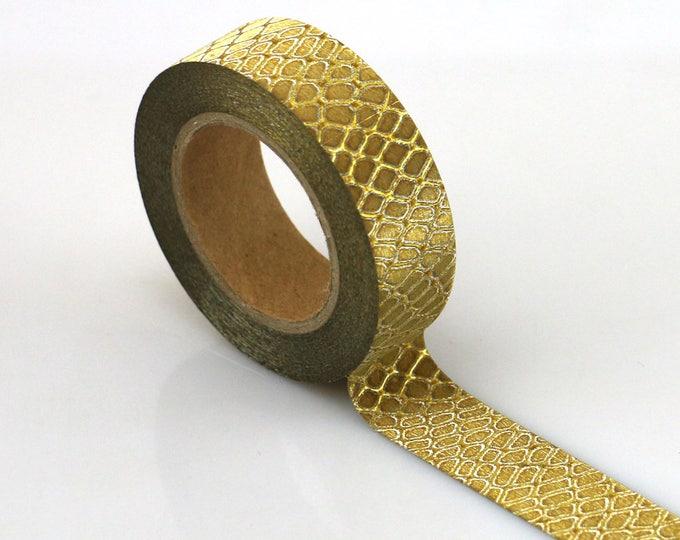 Washi Tape - Gold Glitter Washi Tape - Gold Glitter Tape - Paper Tape - Planner Washi Tape - Washi - Decorative Tape - Deco Paper Tape