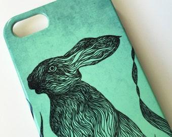 Rabbit phone case // Illustrated Animal // iPhone X / 8 / 8 Plus / 7 / 7 Plus / 6 / 6S / SE / 5 / 5S // Samsung G. S9/S7/S6/S6 Edge/S5