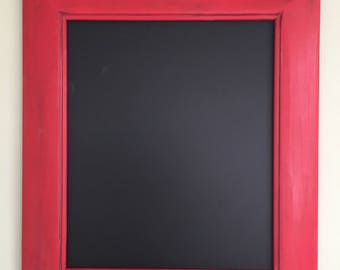 Bright Red Chalkboard