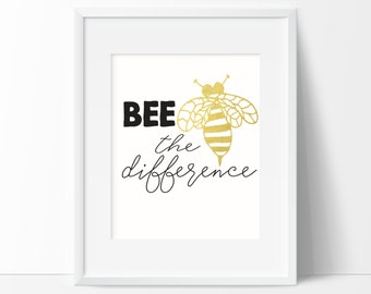 Bee the Difference Print Wall Art