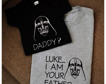 Daddy and Son Star Wars shirts!  Luke, I am your father