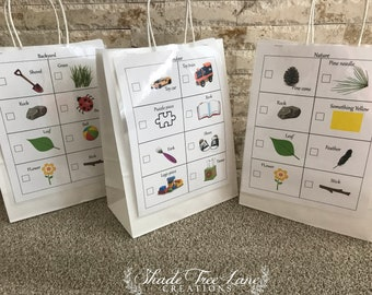 Toddler Scavenger Hunt Instant Download Printable FIles