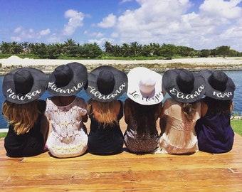Bachelorette Party, Bride Hat, Beach Hat, Bachelorette Party Favors, Bachelorette Party Shirts, Sun Hat, Custom Hat, Vacation Hat