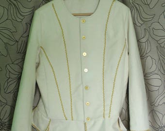 Steampunk coat , Victorian coat,  Rustic White jacket victorian clothes victorian clothing