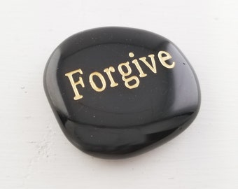 Gemstone Affirmation Stone - Forgive - Perfect Gift for Encouragement & Hope