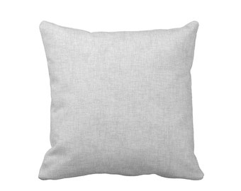 11 Sizes Available: Decorative Throw Pillow Covers Grey Pillow Covers Gray Pillows Solid Grey Pillows Oversized Pillows Large Throw Pillows