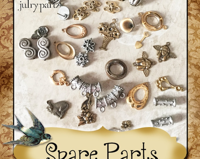 SPARE PARTS•Earring Parts•Necklace Parts•Vintage Components•Set 8