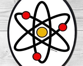 Atomic Atom Wall Plaque