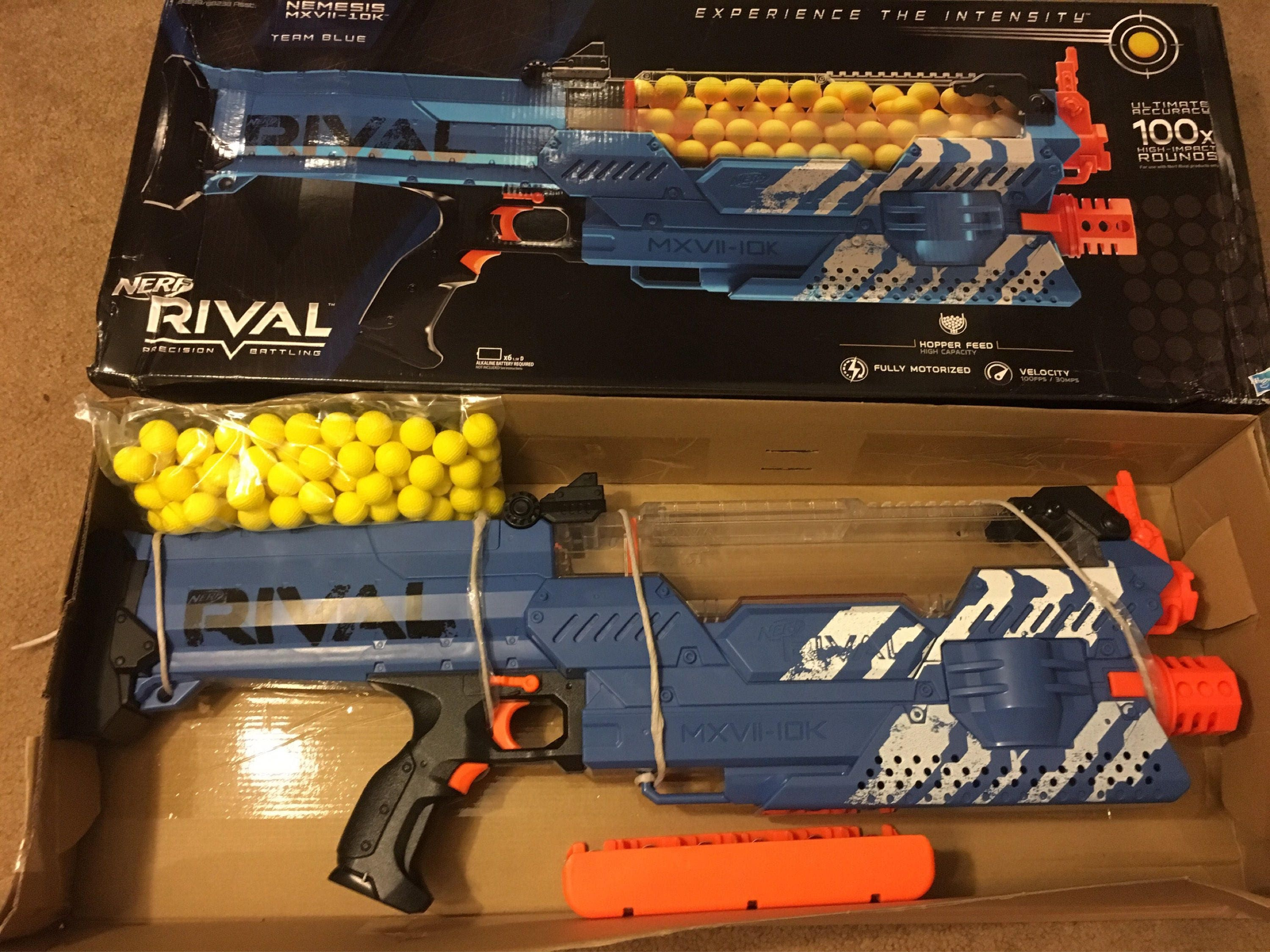 Description This is a Brand New Nerf Rival Nemesis